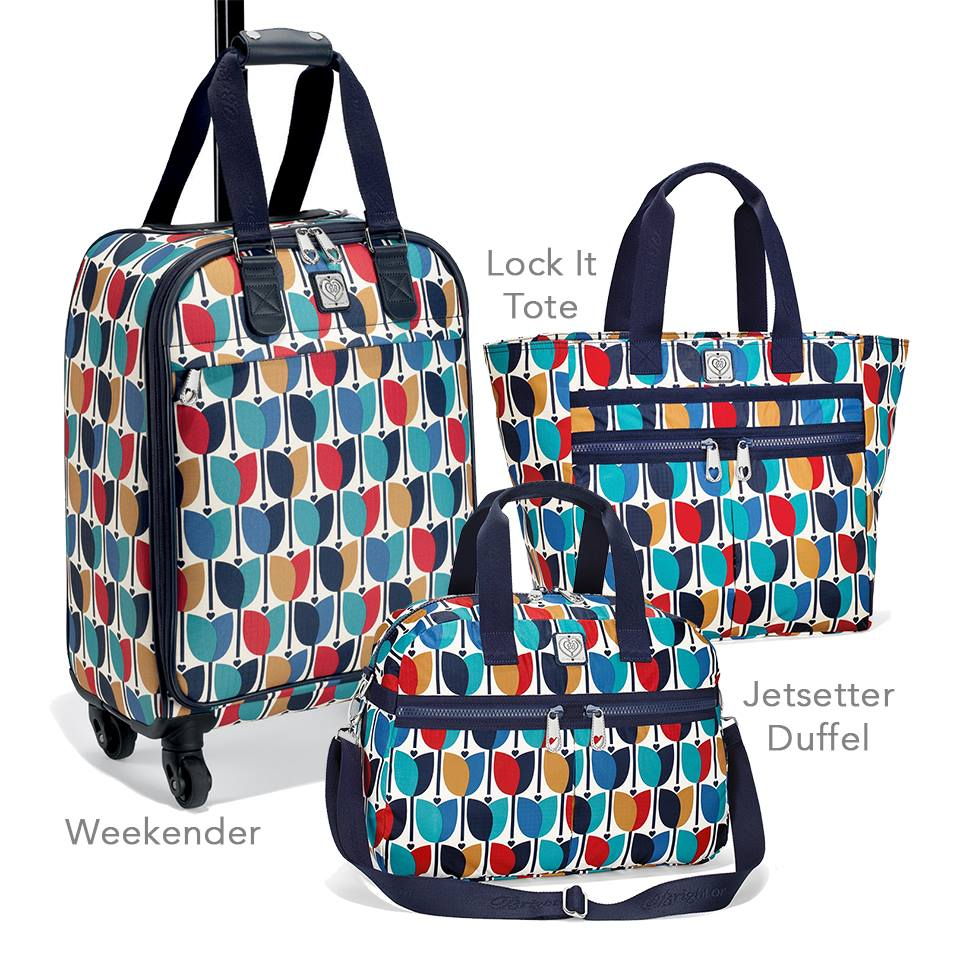 Newberry Mod Print Travel Collection  Weekender $260  Lock It Super Tote $108  Jetsetter Duffel $108
