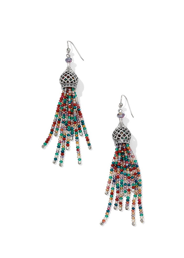 The beautiful Sahuri Beaded Tassel French Wire Earrings