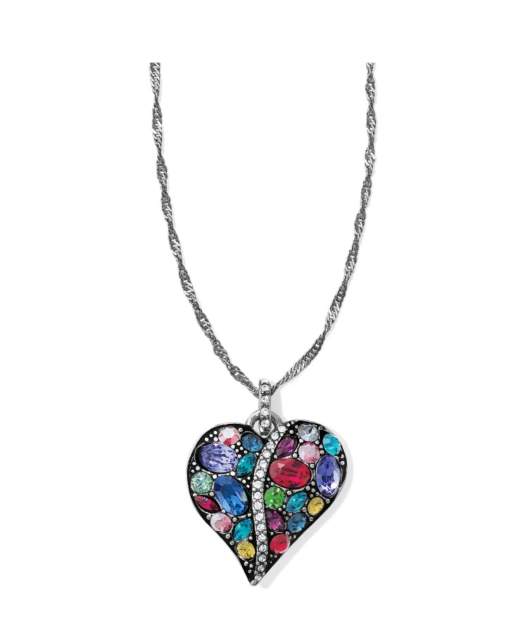 Trust Your Journey Heart Necklace $76
