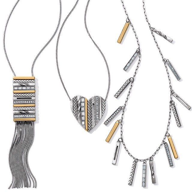 This new collection by #brightoncollectibles is a beauty!!! #earabstractsboutique #newarrivals #shop #style #beauty #tapestry #fringenecklace #tasselnecklaces #twotone