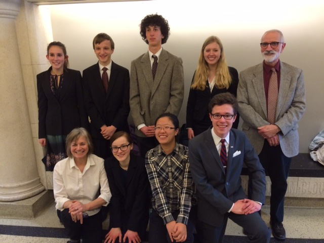 In bottom row, Claire Saint-Amour second from left and Ethan Addis on the far right. Congrates!