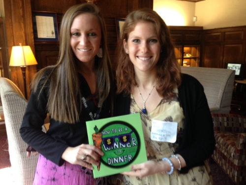 Gina Collaizo (left) with Advancement Associate Emily Silberstein. We hope Gina will be a guest author in the Primary Unit this spring