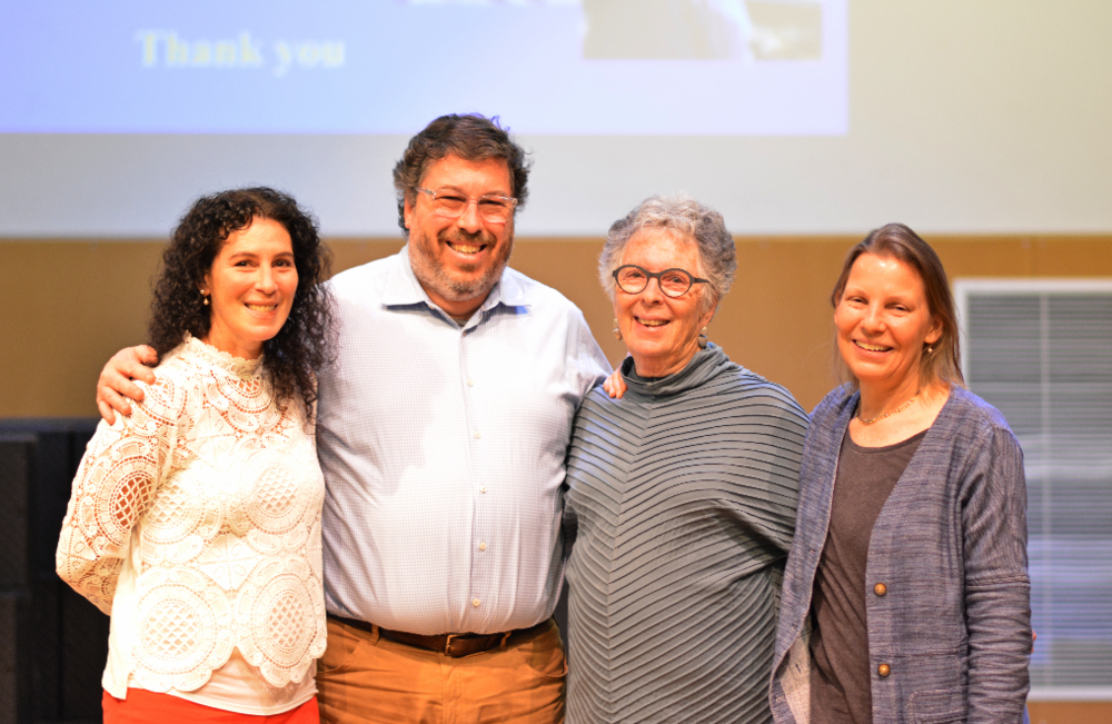 From left to right: Elizabeth Berman '81, Michael Berman '84, Lynne Berman, and Dr. Duhaime