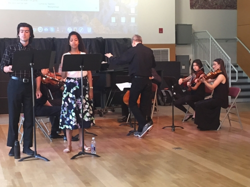 Last spring, vocalists from Temple's Boyer School of Music and members of the Youth Chamber Orchestra from the Center for Gifted Young Musicians, conducted by TPS teacher Aaron Picht, performed music written to original lyrics written in the Calling All Lyricists intensive.
