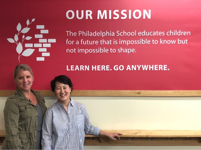 From left to right: Middle School Director Tanya Salewski and Head of School Lisa Sun