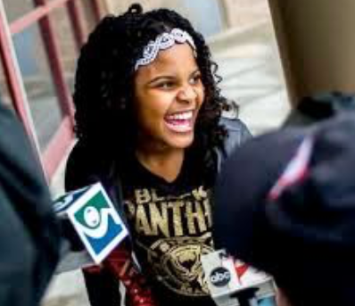 Preteen Mari Copeny, who help turn our nation's attention to Flint's water crisis.