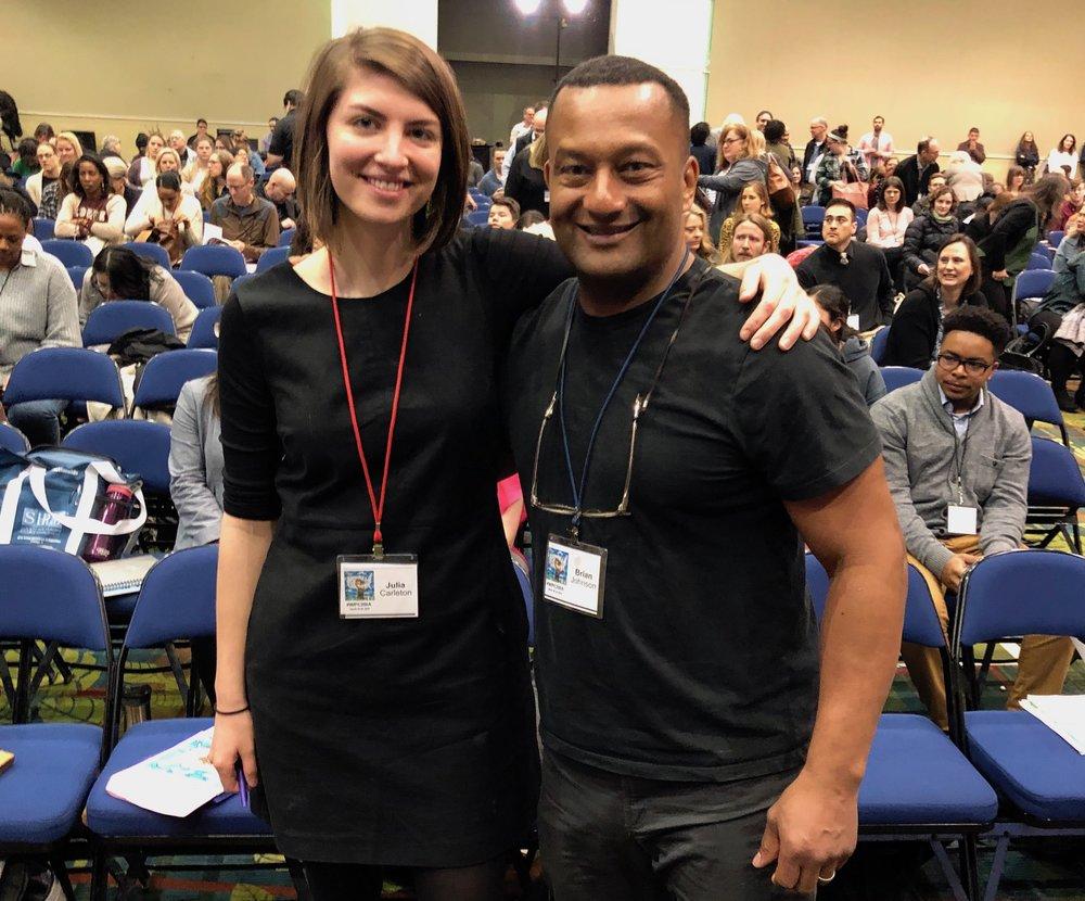 Julia Carleton and Brian Johnson at the White Privilege Conference in Iowa.