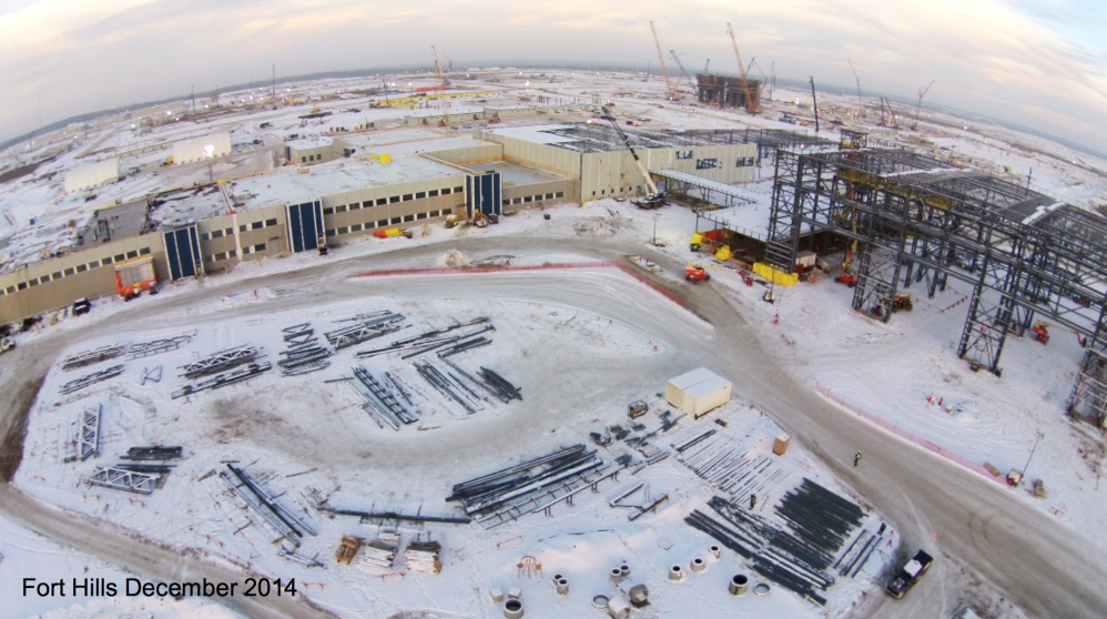 AERIAL VIEW OF THE FORT HILLS PROJECT CONSTRUCTION (COURTESY SUNCOR ENERGY)