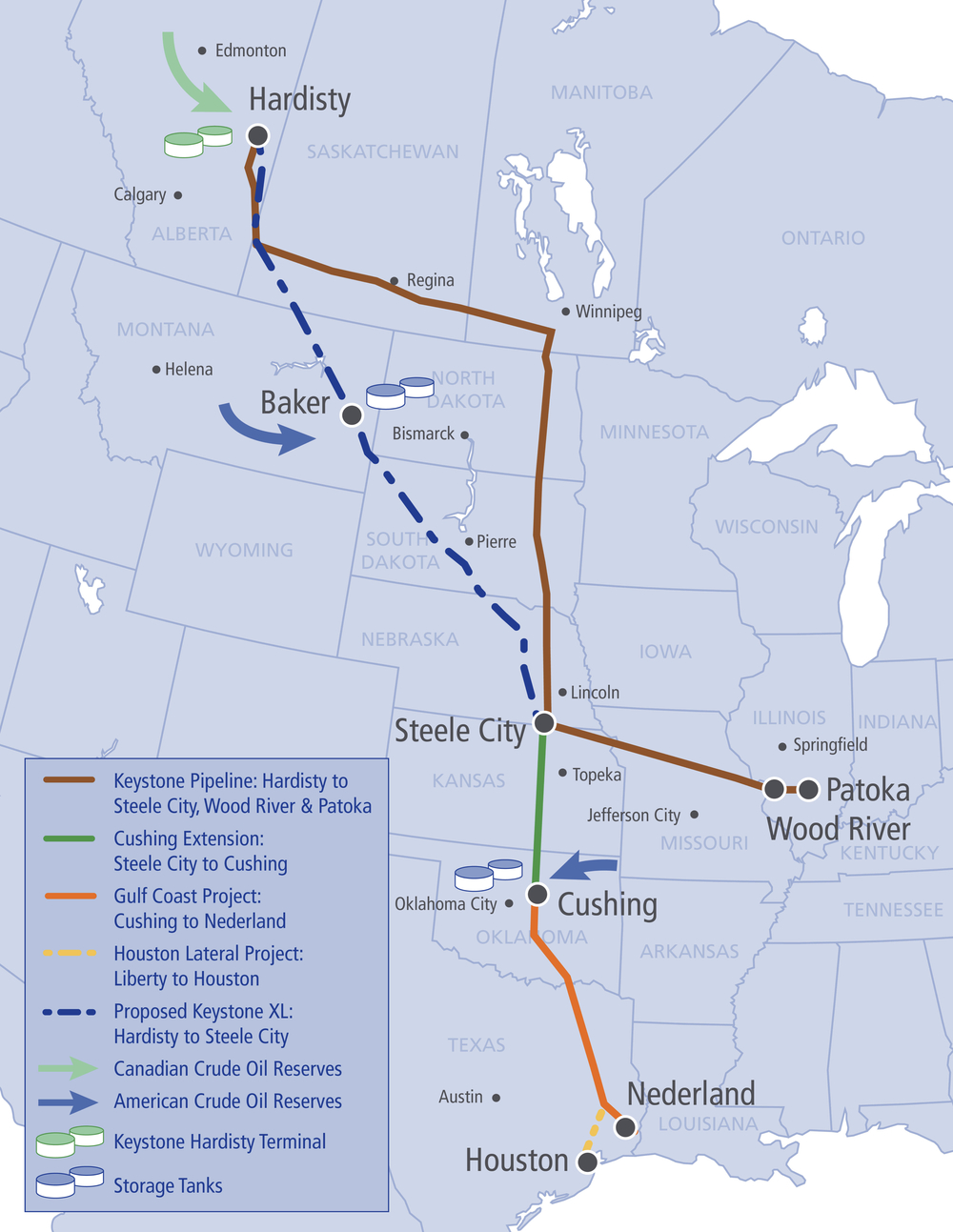 KEYSTONE XL PIPELINE ROUTING (SOURCE: TRANSCANADA)