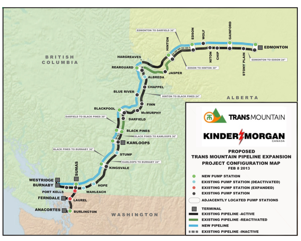 TRANS MOUNTAIN PIPELINE AND EXPANSION COURTESY KINDER MORGAN CANADA