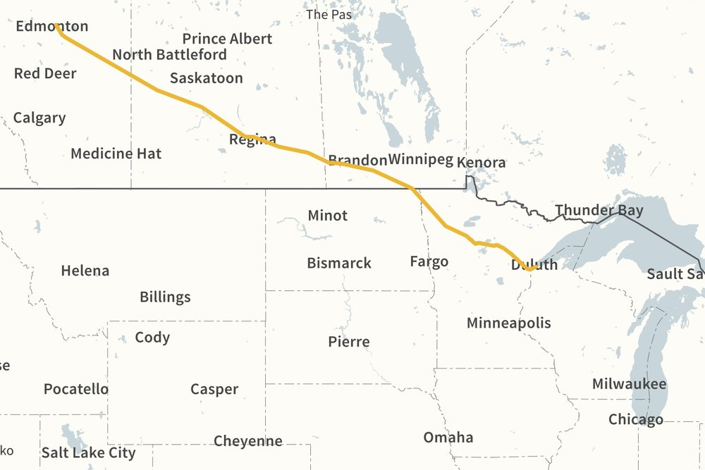 LINE 4 & 67 ROUTING (COURTESY ENBRIDGE)