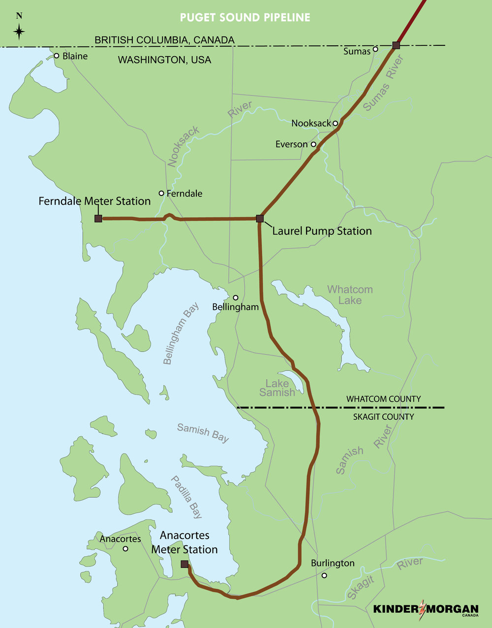TRANS MOUNTAIN'S PUGET SOUND SYSTEM (COURTESY KINDER MORGAN)