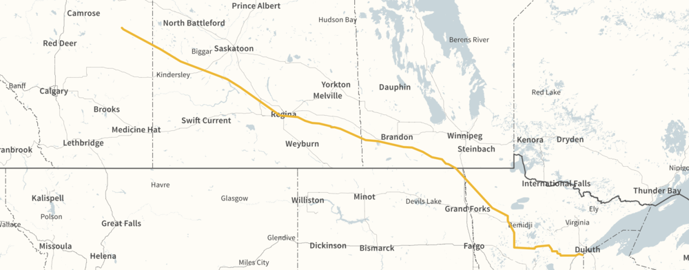 LINE 3 ROUTING (COURTESY ENBRIDGE)