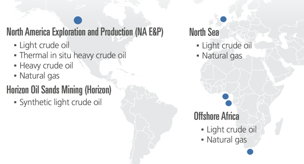 GLOBAL OPERATIONS MAP (COURTESY CNRL)