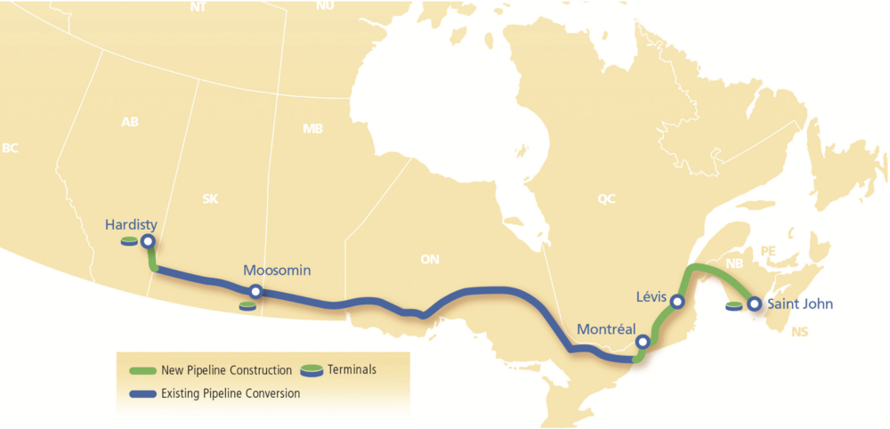 MAP COURTESY TRANSCANADA