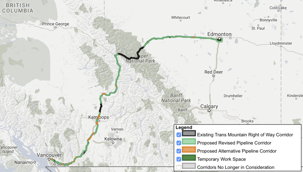 PIPELINE ROUTING (COURTESY KINDER MORGAN)