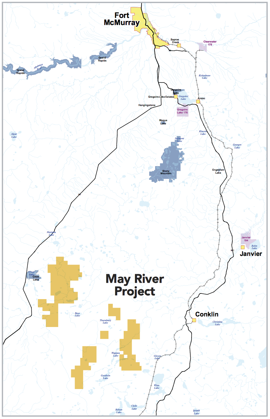 MAY RIVER LOCATION MAP (COURTESY MEG ENERGY)