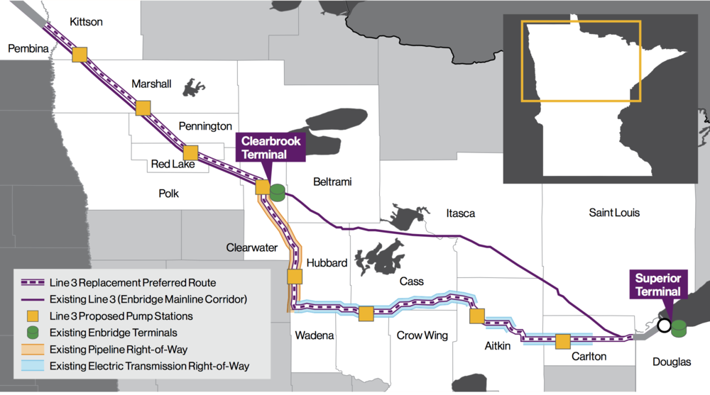 US PORTION OF LINE 3 REPLACEMENT PROGRAM (COURTESY ENBRIDGE)