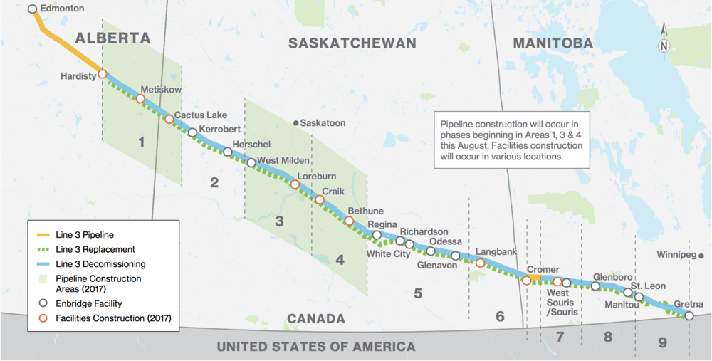 CANADIAN PORTION OF LINE 3 REPLACEMENT PROGRAM (COURTESY ENBRIDGE)