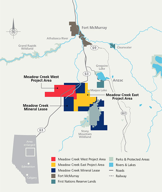 Application Site Map: Suncor Gets The Ball Rolling On Meadow Creek West