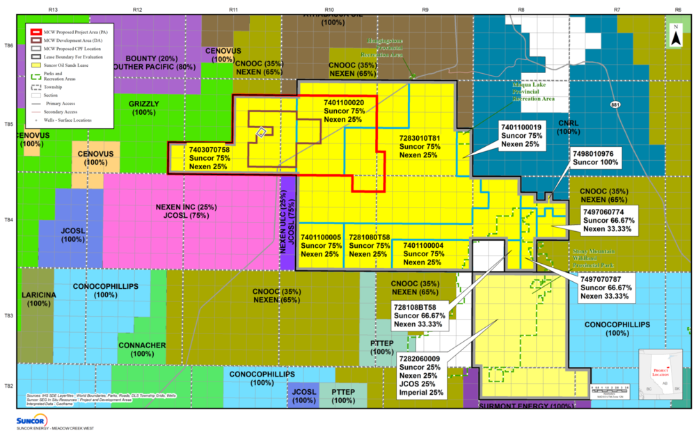 LEASE MAP (COURTESY SUNCOR ENERGY)