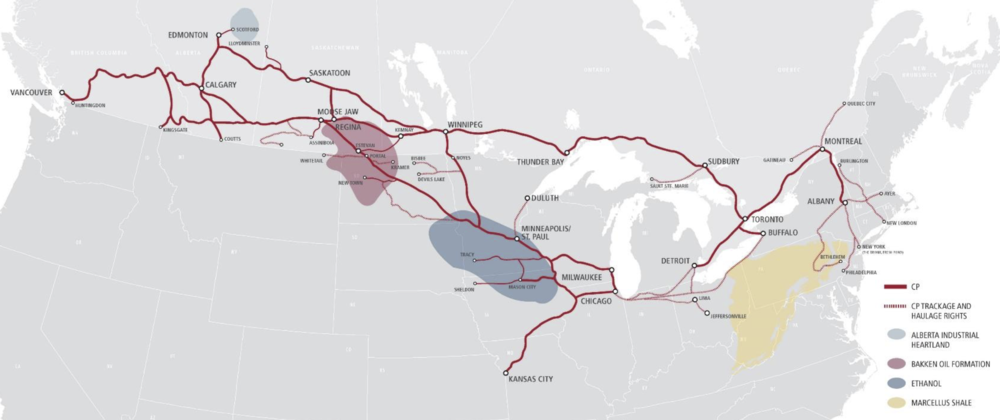RAIL NETWORK MAP COURTESY CP RAIL
