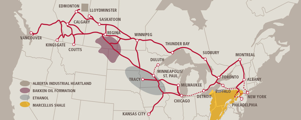 CP RAIL NETWORK (COURTESY CP RAIL)
