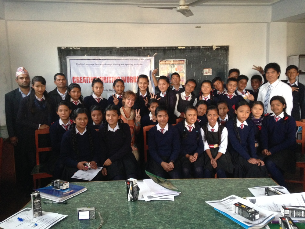 Creative writing workshop, government school in Pokhara.