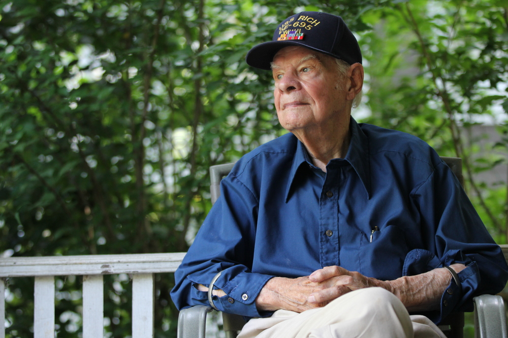 Also on Day 4: This was incredibly special to me. I had the opportunity to take portraits of M.H. Green, a WWII veteran who was off the coast of Normandy when his ship was blown apart by mines on D-Day. My grandfather was in those same waters 70 years ago, so it was an honor for me to meet and spend time with Mr. Green.