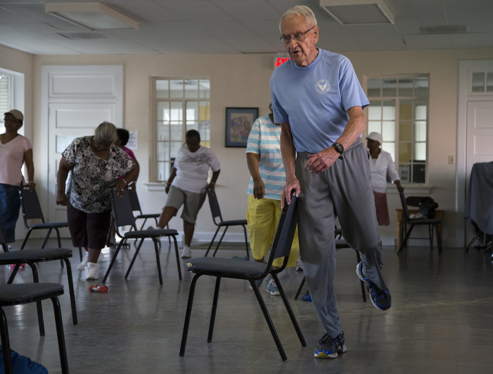 Friday: I got up at 5:30am to drive to Wilson, N.C. where I met Jack Saylor, a 93-year-old fitness instructor.