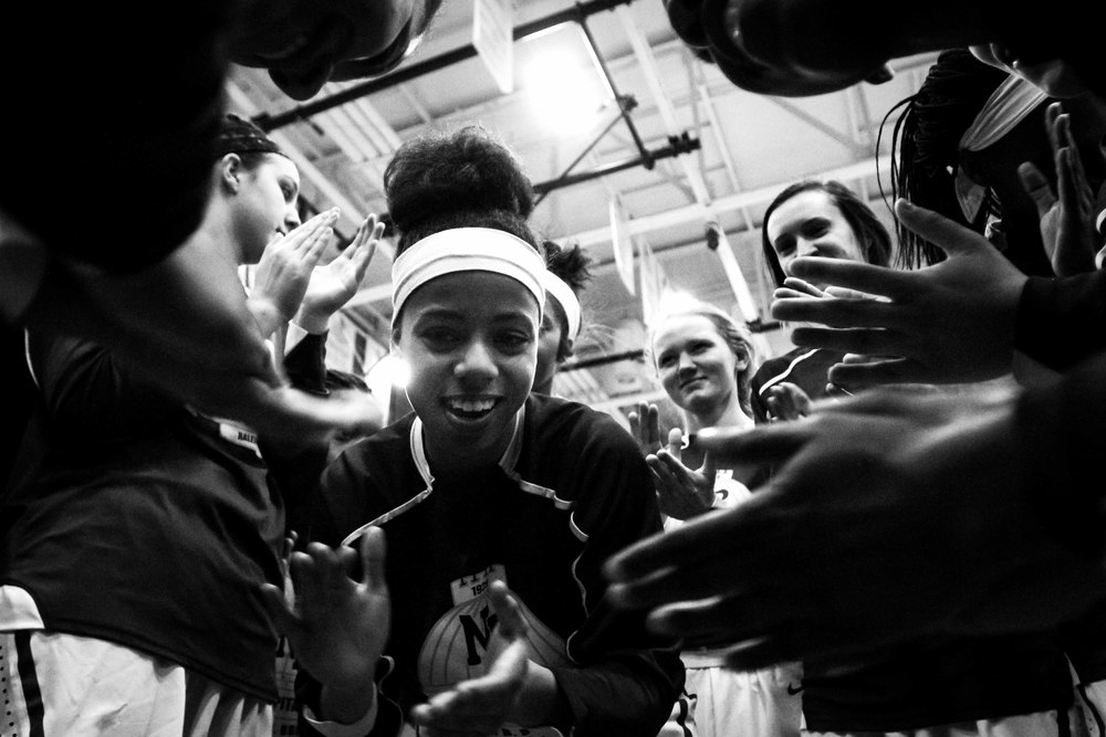 Before they even take the court, the Lady Caps believe they can win. With this mindset, they will play with confidence. Gathering around senior Dreamer Crawford, they get pumped for the second round of playoffs and their game against Hillside High School.