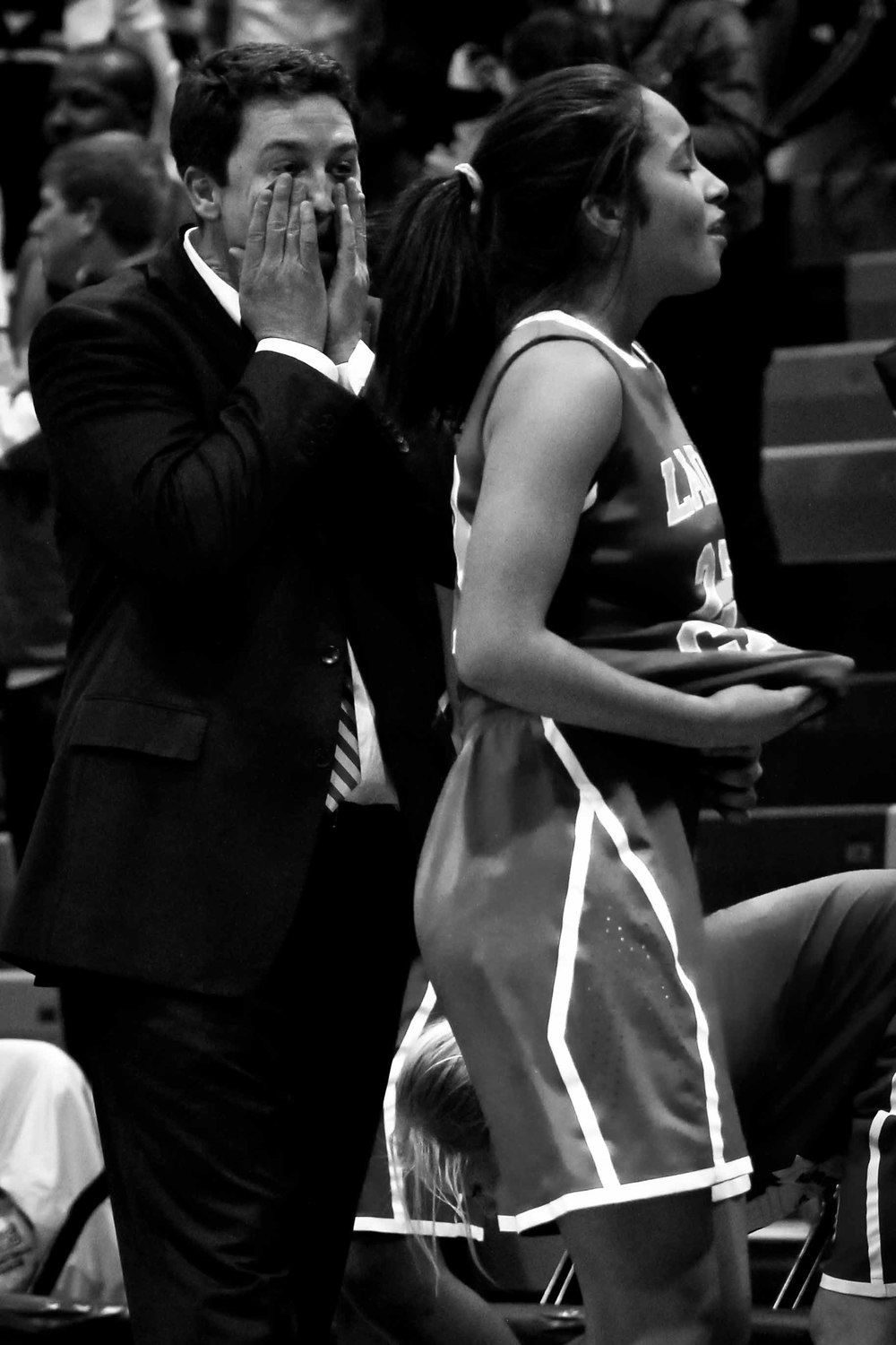 The Lady Caps fell to the Hillside Hornets 90-64 in the second round of the playoffs.  Coach McCorkle feels every loss acutely. Although he doesn't coach full time, he spends all of his free time devoted to the Lady Caps. Before important games, he often texts his assistant coaches late into the night with last minute game strategies.