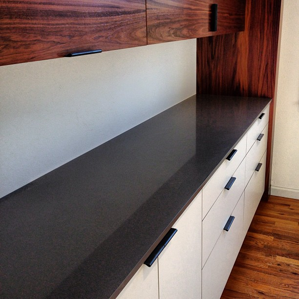 Just installed new #caesarstone countertops in our #custom #kitchen showroom - from Instagram
