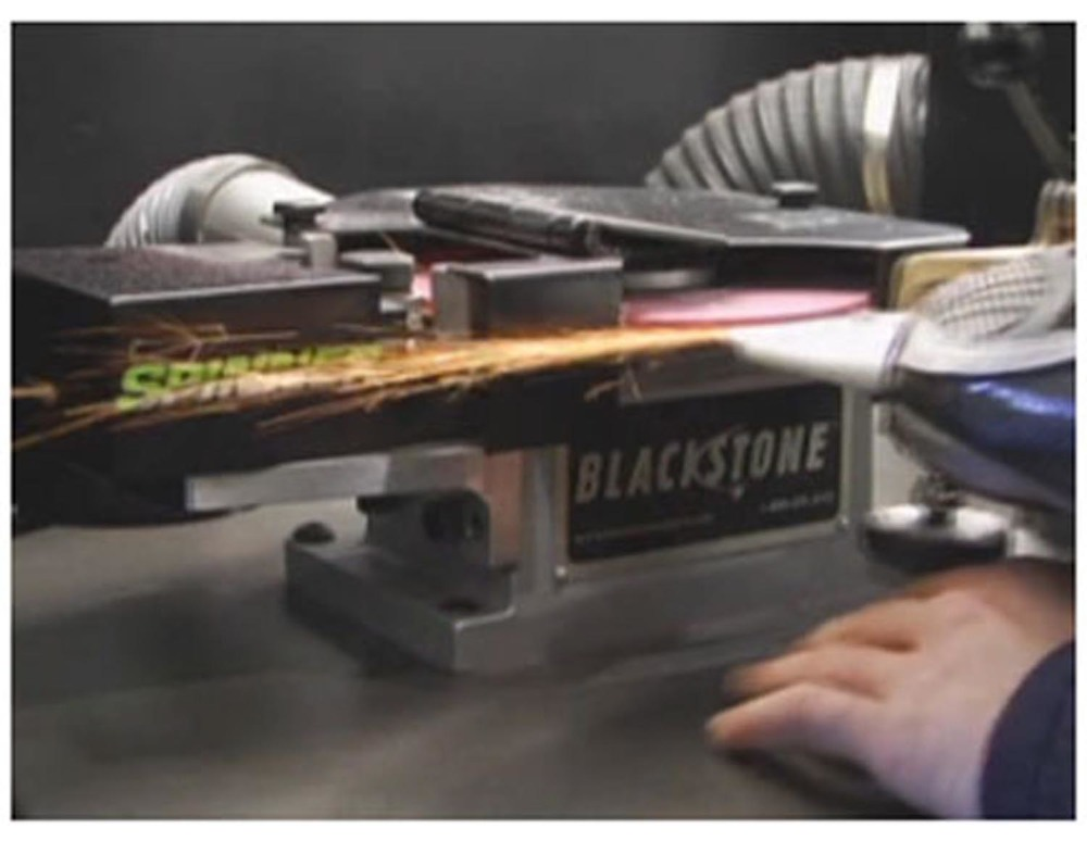 We Sharpen on the Blackstone Skate Sharping Machine