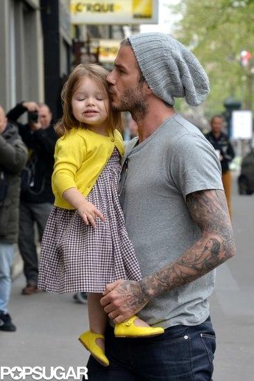 Becks and daughter. Popsugar.com