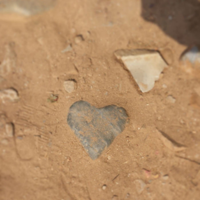 Even on a rocky and jagged pathway, love prevails.
