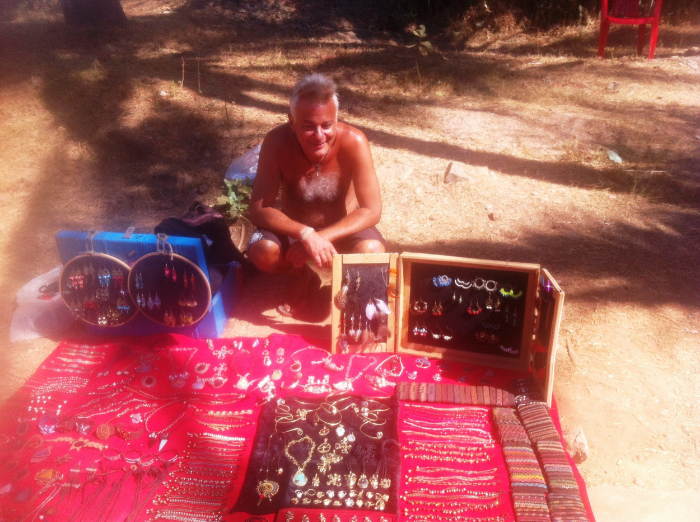 Cristian with his beautiful handcrafts.