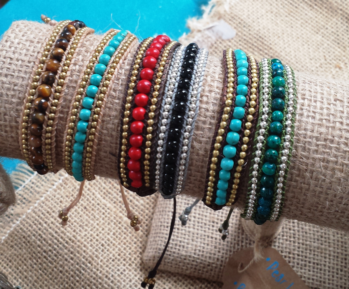 Maria Benegas, Crisitan's sisters gorgeous hand made bracelets $45