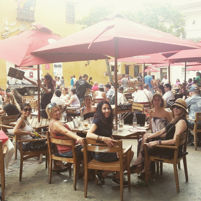 Our first lunch together in Cartagena
