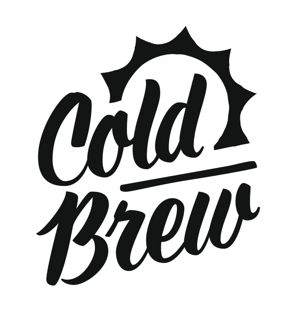 Cold brew is a summertime favourite and needed something a little more fun and playful. I made a sign painter style hand-lettering logo for the cold brew line.