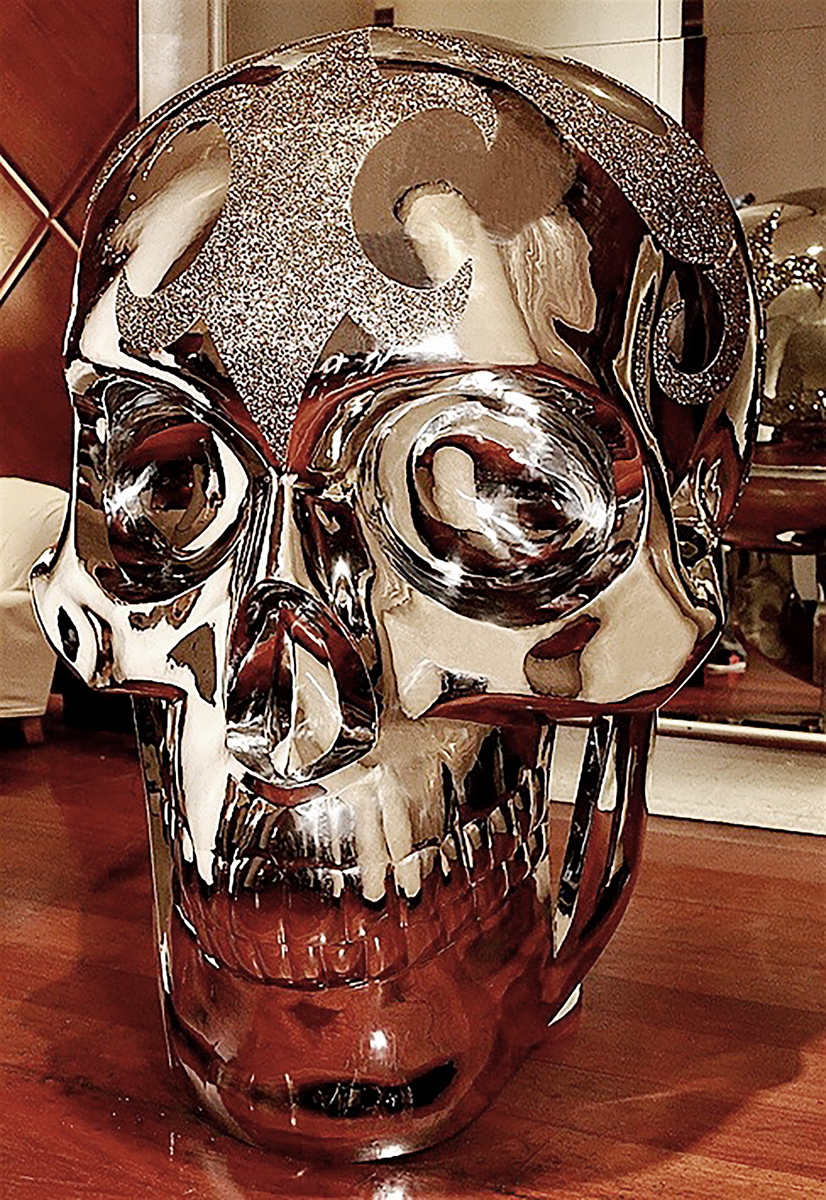 STAINLESS STEEL SKULL WITH SWAROVSKI CRYSTALS....jpg
