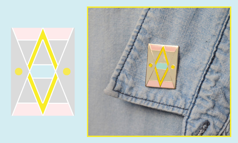 Enamel pins by Stefani Greenwood