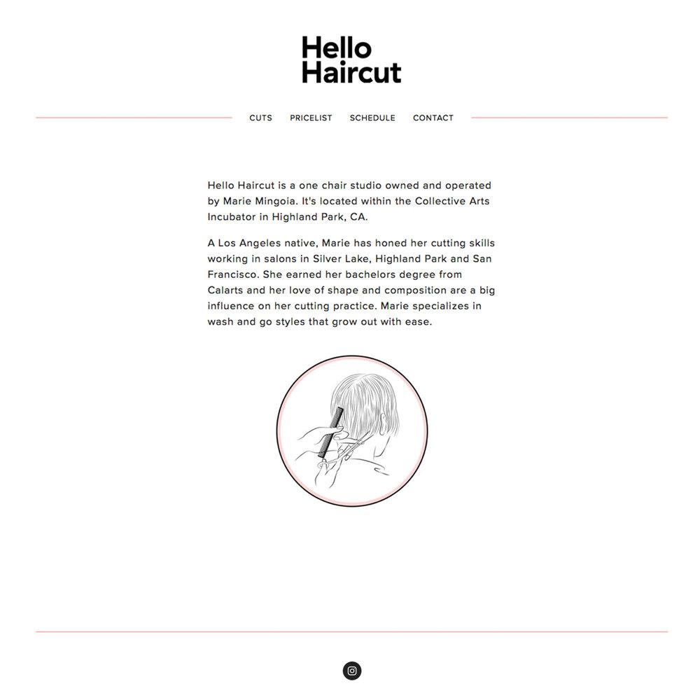 Hello Haircut Web Design