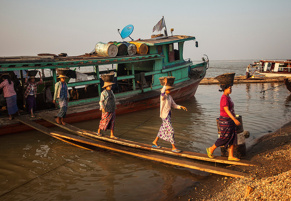 Away from the temples on the Irrawaddy River