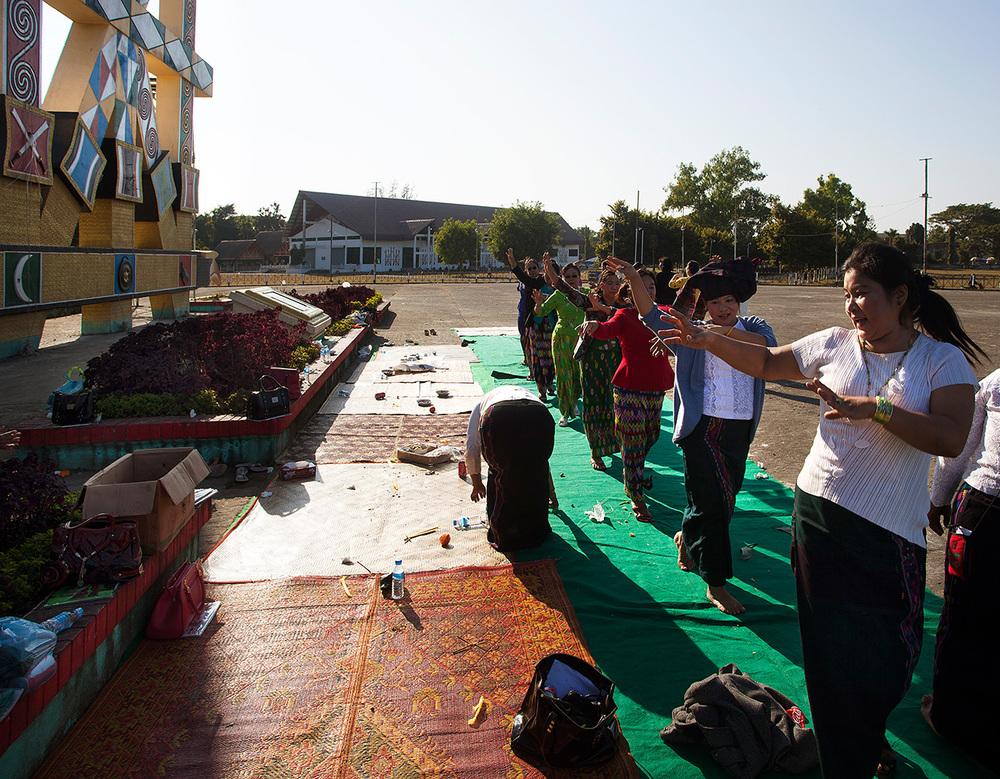 traditional Kachin dancing