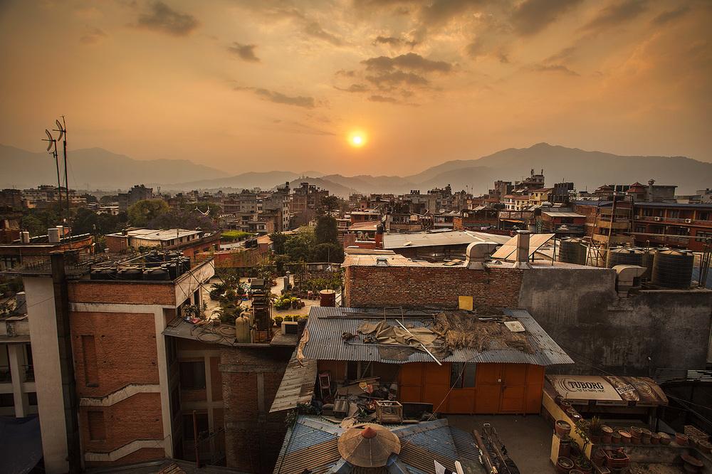 Sunset over Kathmandu. And this segment on Nepal