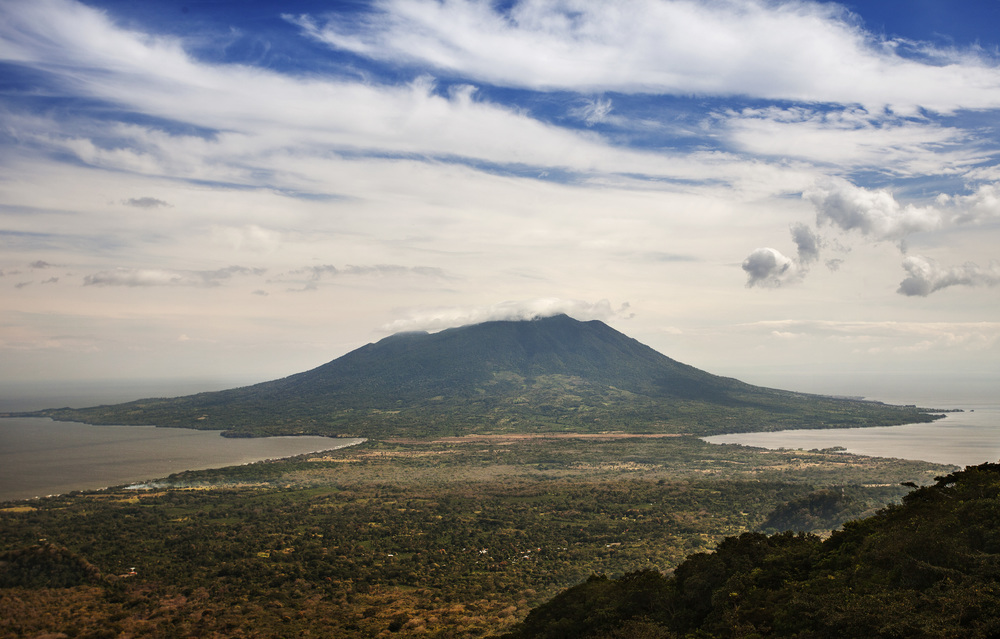 the view of volcano Maderas from Concepcion