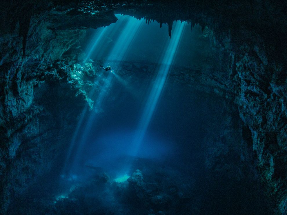 Nat'l Geo photo of the Pit, one of the cenotes I dived in Mexico