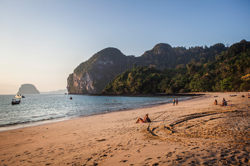 View from Farang Beach. Of course this girl wasn't single