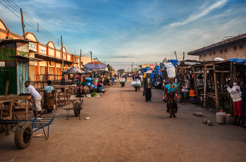 city market in Lusaka